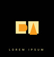 modern creative shaped da ad d a logo initial