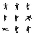 motor activity icons set simple style vector image