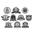 nautical seafarer marine sea sailor icons vector image vector image