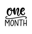 one month baby shower newborn age marker vector image