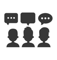 online community design vector image vector image