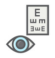 optometry filled outline icon medicine vector image