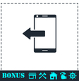 Outcoming calls icon flat vector image