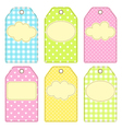 Patchwork tags vector image vector image
