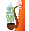 patricks day leprechaun smokes pipe red beard vector image vector image