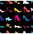 pattern of womens shoes vector image