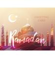 Ramadan card vector image vector image