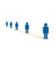 range people from each other social sign vector image