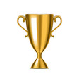 realistic detailed 3d winner golden cup vector image vector image