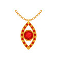 Ruby gold pendant fashionable jewelry