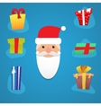 Santa with various presents vector image vector image