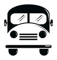 school bus icon simple black style vector image