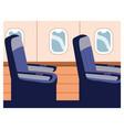 seats in plane near windows single seat in vector image