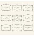 Set frames in vintage style vector image vector image