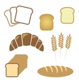 Set of white bread bakery icons vector image
