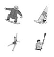snowboarding sailing surfing figure skating vector image