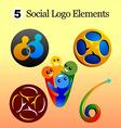 social logo vector image vector image
