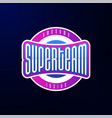 sport emblem typography super team hero logotype vector image vector image