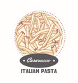 sticker with hand drawn pasta casarecce vector image vector image