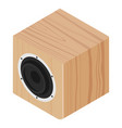 subwoofer wooden design isometric view isolated vector image vector image
