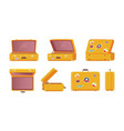 suitcase ready for travelling vector image vector image
