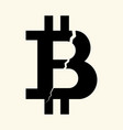 the symbol of the digital crypto currency bitcoin vector image vector image