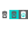 trash bin element with battery icon vector image vector image