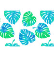 tropical leaves monstera pattern vector image vector image
