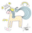 unicorn hand drawn sketch with patches types vector image
