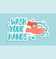 wash your hands corona virus sticker doodle vector image