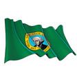waving flag washington state vector image vector image