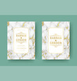 wedding save the date invitation cards flourishes vector image