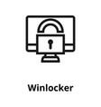 winlocker line icon vector image vector image
