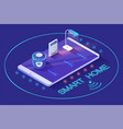 wireless device smart automated equipment vector image