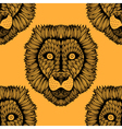 Seamless lion background vector image