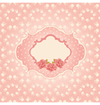 Seamless floral background greeting card template vector image