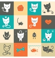 Set of colorful animal icons vector image