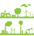 abstract ecology and industry background vector image