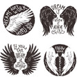 Wings Label Set vector image
