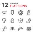 12 privacy icons vector image vector image