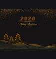 2020 merry christmas and happy new year text vector image vector image