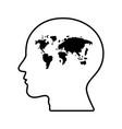 abstract world map human head vector image vector image