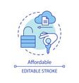 affordable advantage concept icon