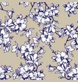 beautiful sketchy magnolia twigs seamless vector image vector image