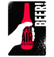 beer open air festival vintage style poster vector image vector image