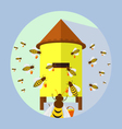 bees and hive vector image