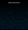 binary code abstract background vector image
