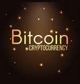 bitcoin cryptocurrency text vector image