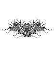 Black and white lace flowers and leaves isolated vector image vector image
