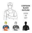 builder masonprofessions single icon in cartoon vector image